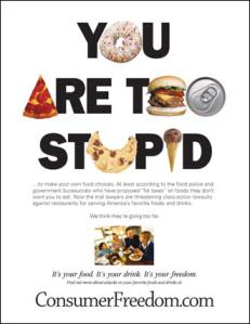 Choose sugar or you are stupid..?